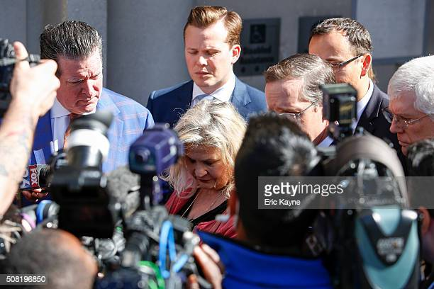 Sandra Merritt, a defendant in a recent indictment reversal stemming from a Planned Parenthood surreptitious video she helped produce, looks on as...
