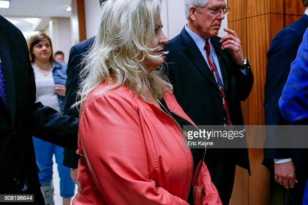 Sandra Merritt, a defendant in a recent indictment reversal stemming from a Planned Parenthood surreptitious video she helped produce, arrives for...