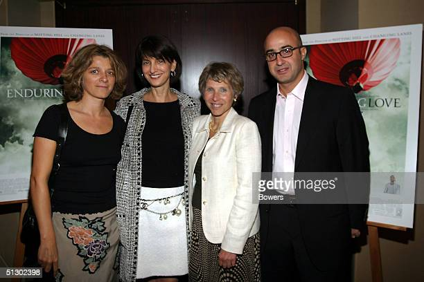 """Sandra Mettelbeck, Ruth Vitale, Shari Redstone and David Dinerstein attend a private screening of """"Enduring Love"""" at the MGM screening room September..."""
