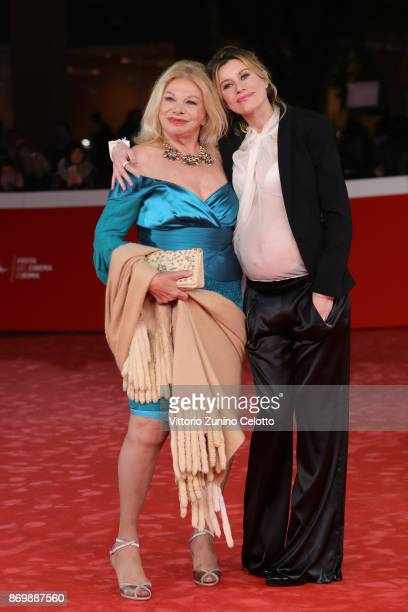 Sandra Milo and a guest walk a red carpet for 'Tormentero' during the 12th Rome Film Fest at Auditorium Parco Della Musica on November 3 2017 in Rome...