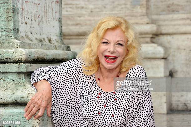 Sandra Milo attends a photocall for 'Prima Di Lunedi' on September 15 2016 in Rome Italy