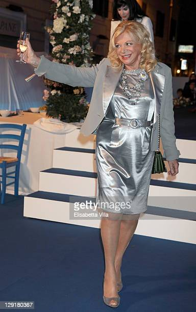 Sandra Milo attends 'Mamma Mia' Rome Launch at Teatro Brancaccio on October 13 2011 in Rome Italy