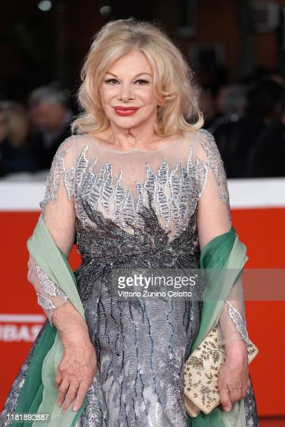 Sandra Milo attends the Pavarotti red carpet during the 14th Rome Film Festival on October 18 2019 in Rome Italy