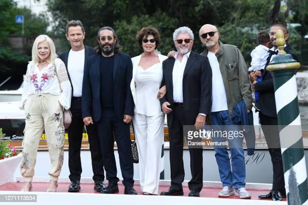 Sandra Milo, Enzo Salvi, Fabrizio Maria Cortese, Corinne Clery, Antonio Catania and Ivano Marescotti are seen arriving at the 77th Venice Film...