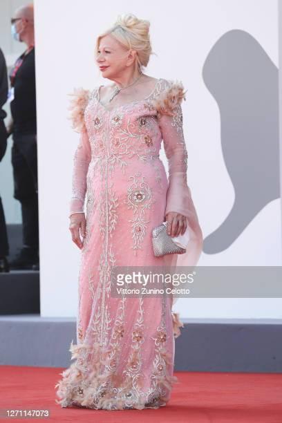 "Sandra Milo walks the red carpet ahead of the movie ""Dorogie Tovarischi!"" at the 77th Venice Film Festival on September 07, 2020 in Venice, Italy."