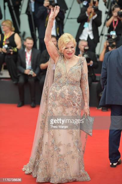 Sandra Milo walks the red carpet ahead of the Opening Ceremony and the La Vérité screening during the 76th Venice Film Festival at Sala Grande on...