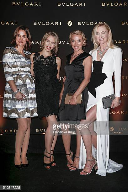 Sandra Mohsni Julia Dietze Sanny van Heteren and Lilly zu SaynWittgenstein attend the Bulgari Night Of The Icons on February 14 2016 in Berlin Germany
