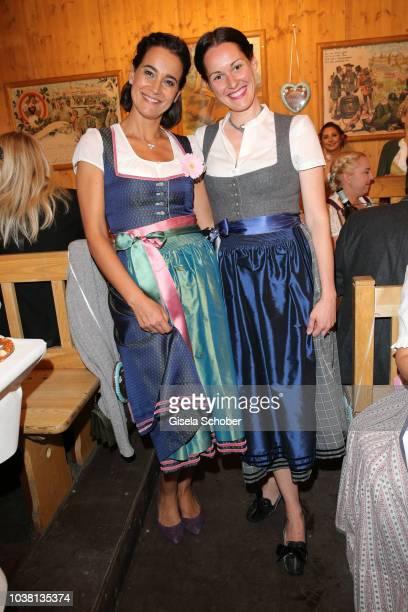 Sandra Mohsni Managing Director Tiffany Co Germany and Alexandra von Frankenberg dirndl fashion designer of Amsel Fashion during the 'Fruehstueck bei...