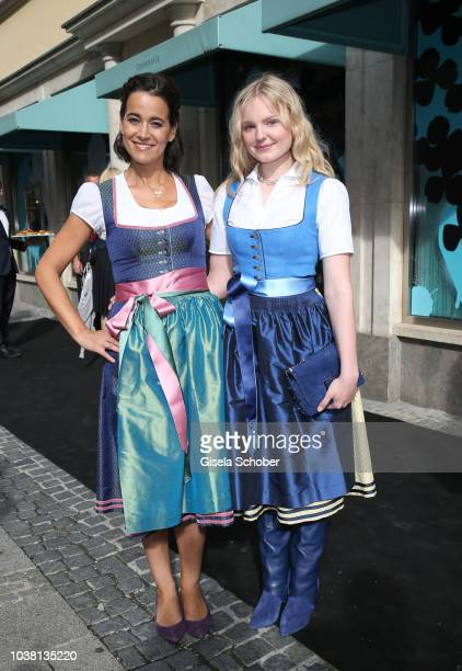 Sandra Mohsni Managing Director Tiffany Co Germany and MariaVictoria Dragus during the 'Fruehstueck bei Tiffany' at Tiffany Store ahead of the...