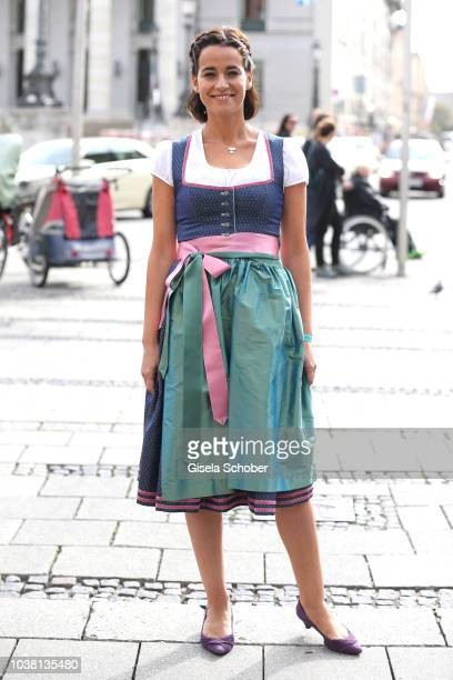 Sandra Mohsni Managing Director Tiffany Co Germany wearing a Dirndl by Amsel Fashion during the 'Fruehstueck bei Tiffany' at Tiffany Store ahead of...