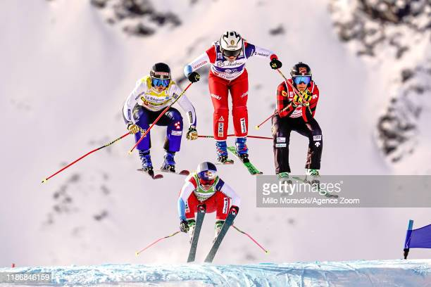 Sandra Naeslund of Sweden in action, Katrin Ofner of Austria in action, Heidi Zacher of Germany in action, Marielle Thompson of Canada in action...