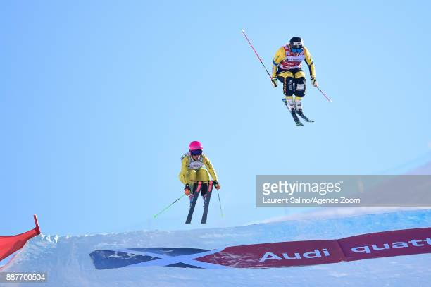 Sandra Naeslund of Sweden takes 1st place, Heidi Zacher of Germany takes 2nd place during the FIS Freestyle Ski World Cup, Men's and Women's Ski...