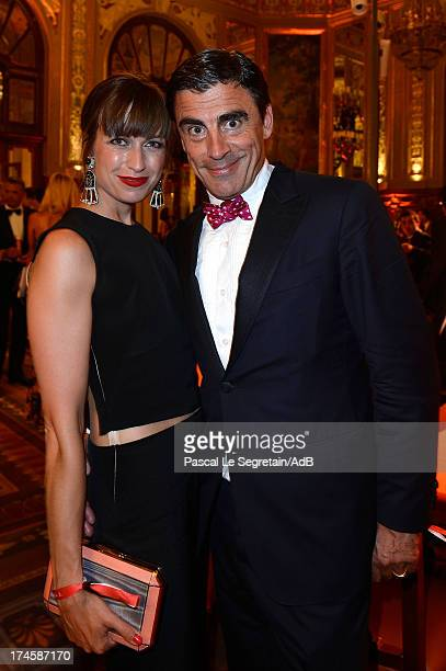 Sandra Nedvetskaia and Andreas Rumbler attend the dinner at the 'Love Ball' hosted by Natalia Vodianova in support of The Naked Heart Foundation at...