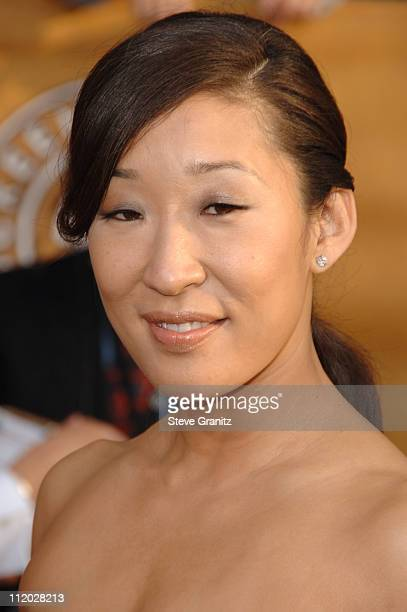Sandra Oh 10618_SG0159jpg during TNT Broadcasts 12th Annual Screen Actors Guild Awards Arrivals at Shrine Expo Hall in Los Angeles California United...