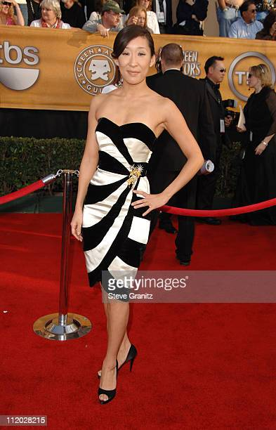 Sandra Oh 10618_SG0163.jpg during TNT Broadcasts 12th Annual Screen Actors Guild Awards - Arrivals at Shrine Expo Hall in Los Angeles, California,...