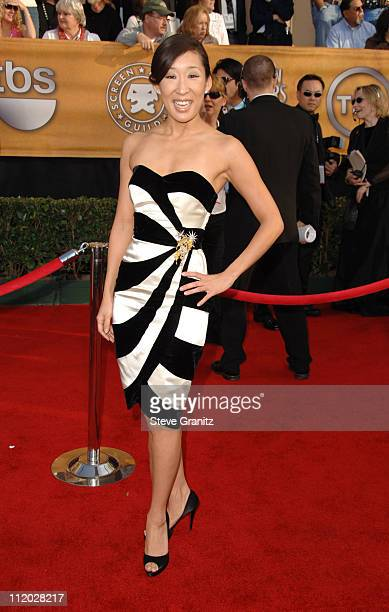 Sandra Oh 10618_SG0167.jpg during TNT Broadcasts 12th Annual Screen Actors Guild Awards - Arrivals at Shrine Expo Hall in Los Angeles, California,...