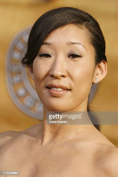 Sandra Oh 10618_sg0706jpg during TNT Broadcasts 12th Annual Screen Actors Guild Awards Arrivals at Shrine Expo Hall in Los Angeles California United...