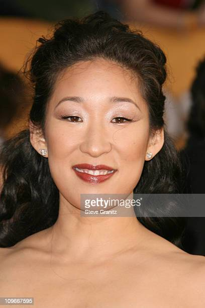 Sandra Oh 12864_SG_0977JPG during TNT/TBS Broadcasts 13th Annual Screen Actors Guild Awards Arrivals at Shrine Auditorium in Los Angeles California...