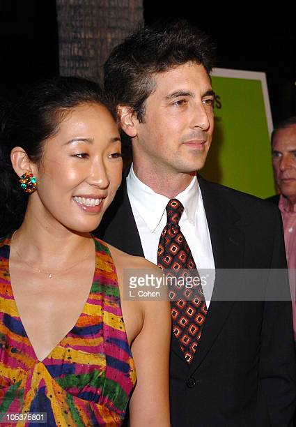 Sandra Oh and Alexander Payne director during 'Sideways' Los Angeles Premiere Red Carpet at Academy of Motion Pictures Arts and Sciences in Beverly...