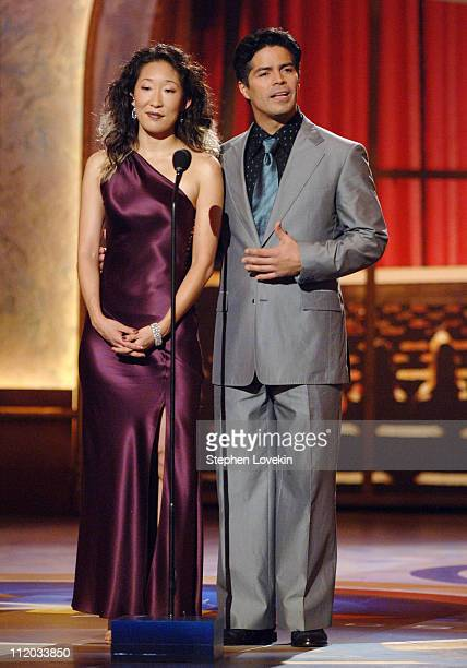 Sandra Oh and Esai Morales during 59th Annual Tony Awards Show at Radio City Music Hall in New York City New York United States