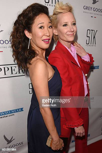 Sandra Oh Anne Heche arrive to The Catfight After Party at the Supper Suite by STK on September 9 2016 in Toronto Canada