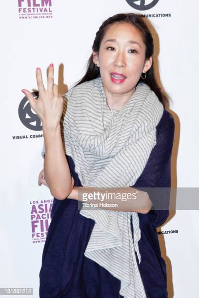 Sandra Oh arrives at Directors Guild Of America for the 27th Annual Los Angeles Asian Pacific Film Festival Opening Night on April 28 2011 in Los...