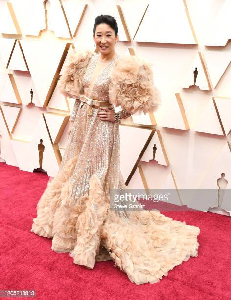Sandra Oh arrives at the 92nd Annual Academy Awards at Hollywood and Highland on February 09 2020 in Hollywood California