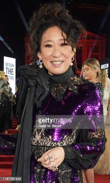 Sandra Oh arrives at The Fashion Awards 2019 held at Royal Albert Hall on December 2 2019 in London England