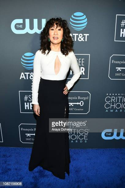 Sandra Oh at Claire Foy Accepts The #SeeHer Award At The 24th Annual Critics' Choice Awards The Barker Hanger on January 13 2019 in Santa Monica...