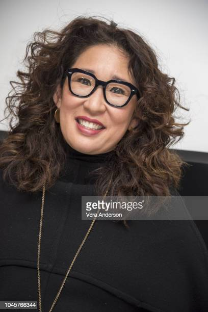 Sandra Oh at the Killing Eve Press Conference at The Dorchester Hotel on October 3 2018 in London England