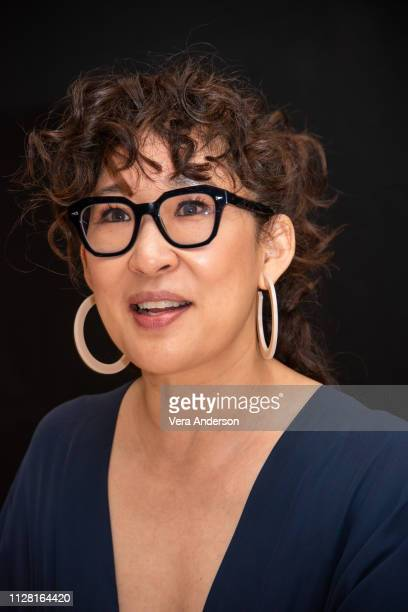 Sandra Oh at the Killing Eve Press Conference at the Four Seasons Hotel on February 07 2019 in Beverly Hills California