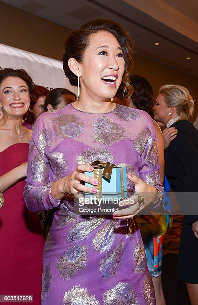 Sandra Oh attends Birks Diamond Tribute to the Year's Women in Film in partnership with Telefilm Canada at ShangriLa Hotel on September 12 2016 in...