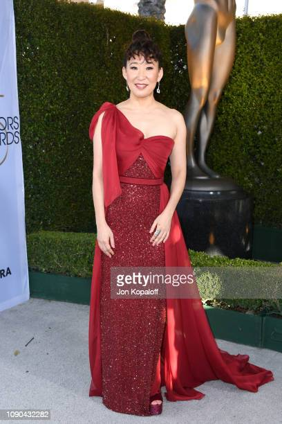 Sandra Oh attends the 25th Annual Screen ActorsGuild Awards at The Shrine Auditorium on January 27 2019 in Los Angeles California