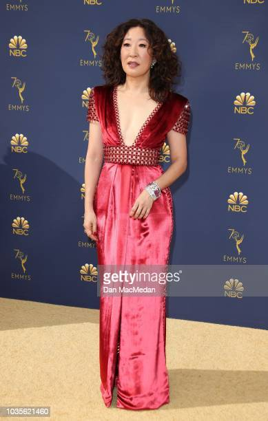 Sandra Oh attends the 70th Emmy Awards at Microsoft Theater on September 17 2018 in Los Angeles California