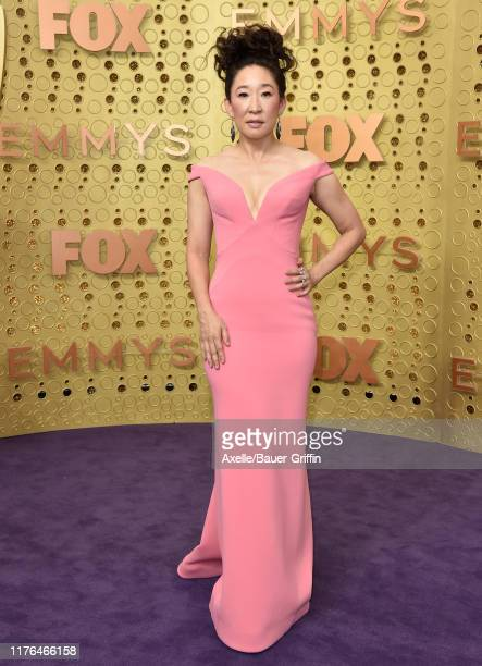 Sandra Oh attends the 71st Emmy Awards at Microsoft Theater on September 22 2019 in Los Angeles California