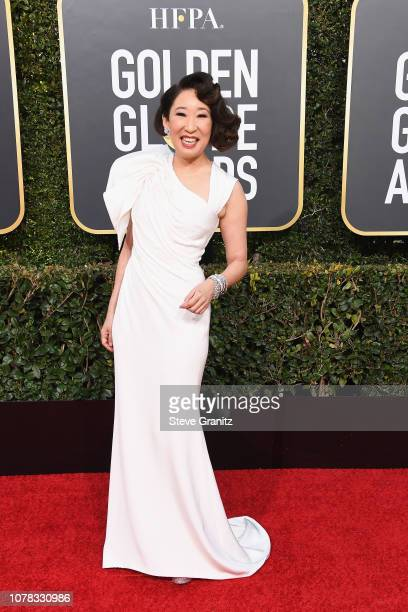 Sandra Oh attends the 76th Annual Golden Globe Awards at The Beverly Hilton Hotel on January 6 2019 in Beverly Hills California