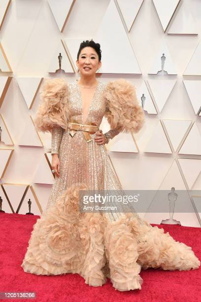 Sandra Oh attends the 92nd Annual Academy Awards at Hollywood and Highland on February 09 2020 in Hollywood California