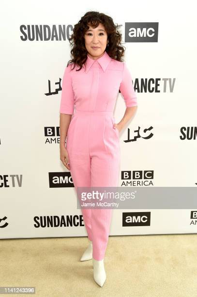 Sandra Oh attends the AMC Network Summit on April 08 2019 in New York City
