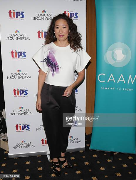 Sandra Oh attends the Expanding The Conversation Asian Americans In Media at Universal Studios Hollywood on November 2 2016 in Universal City...