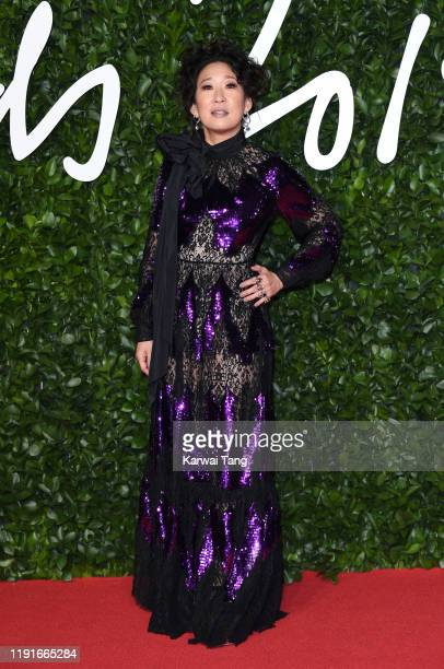 Sandra Oh attends The Fashion Awards 2019 at the Royal Albert Hall on December 02, 2019 in London, England.