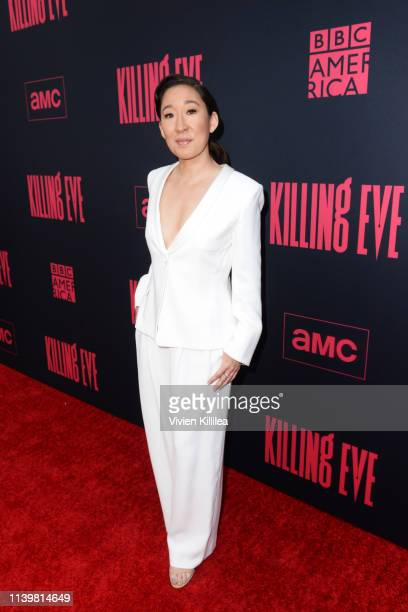 Sandra Oh attends the Killing Eve premiere event on April 01 2019 in North Hollywood California