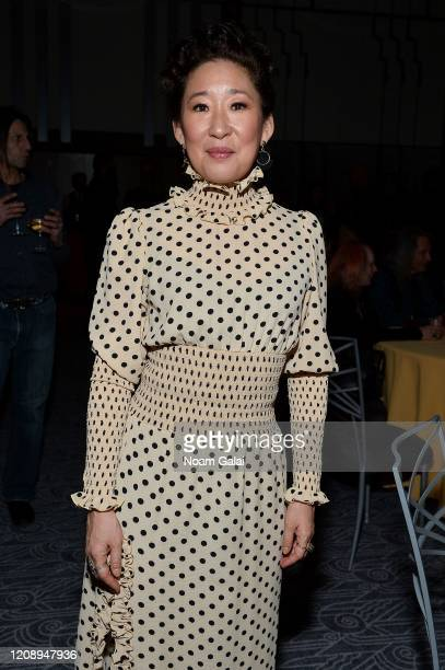 Sandra Oh attends the on stage during the 33nd Annual Tibet House US Benefit Concert & Gala after party on February 26, 2020 in New York City.