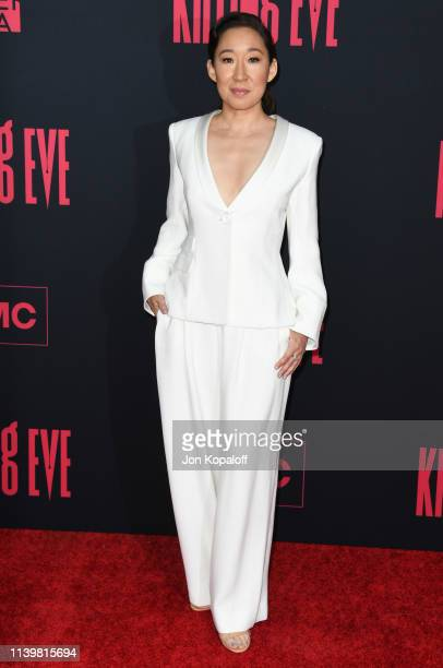 Sandra Oh attends the premiere of BBC America And AMC's Killing Eve Season 2 at ArcLight Hollywood on April 01 2019 in Hollywood California