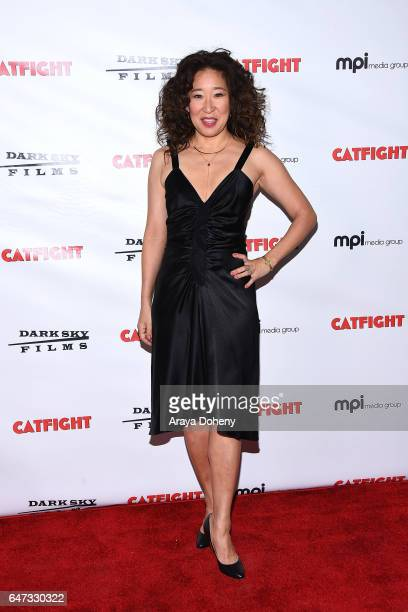 Sandra Oh attends the premiere of Dark Sky Films' 'Catfight' at Cinefamily on March 2 2017 in Los Angeles California