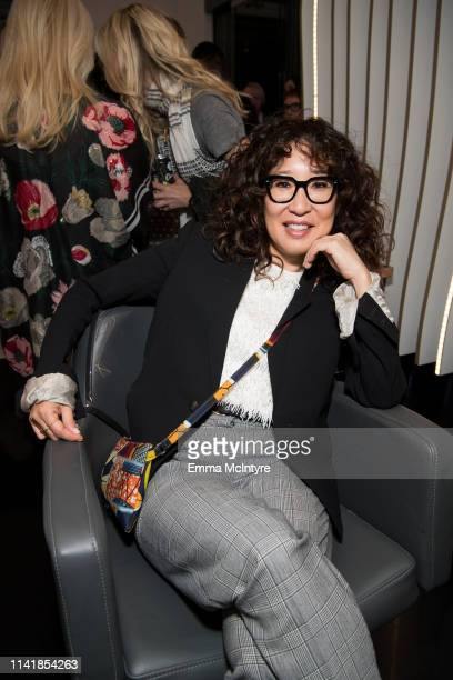 Sandra Oh attends the 'STARRING by Ted Gibson' Salon opening on April 10 2019 in Los Angeles California