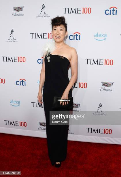 Sandra Oh attends the TIME 100 Gala 2019 Lobby Arrivals at Jazz at Lincoln Center on April 23 2019 in New York City