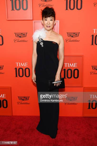 Sandra Oh attends the TIME 100 Gala Red Carpet at Jazz at Lincoln Center on April 23 2019 in New York City