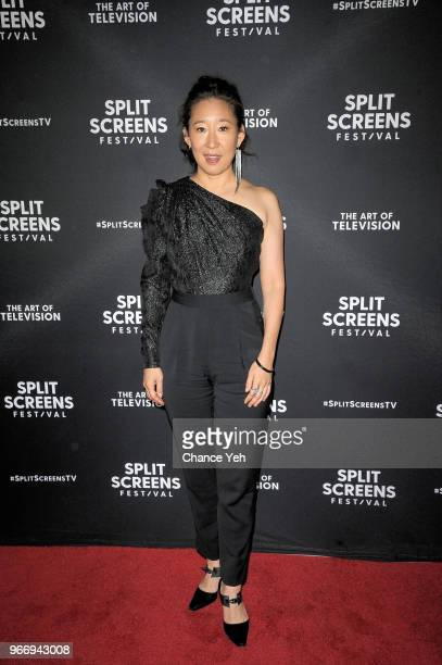 Sandra Oh attends Vanguard Award 2018 Split Screens Festival at IFC Center on June 3 2018 in New York City