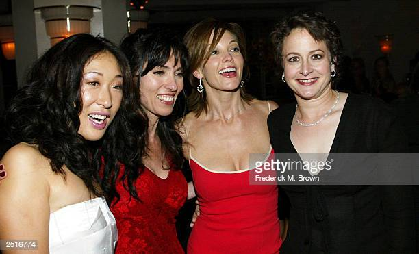 Sandra Oh Audrey Wells Diane Lane and executive Nina Jacobson attend the after party for the film premiere of Under The Tuscan Sun at the Roosevelt...