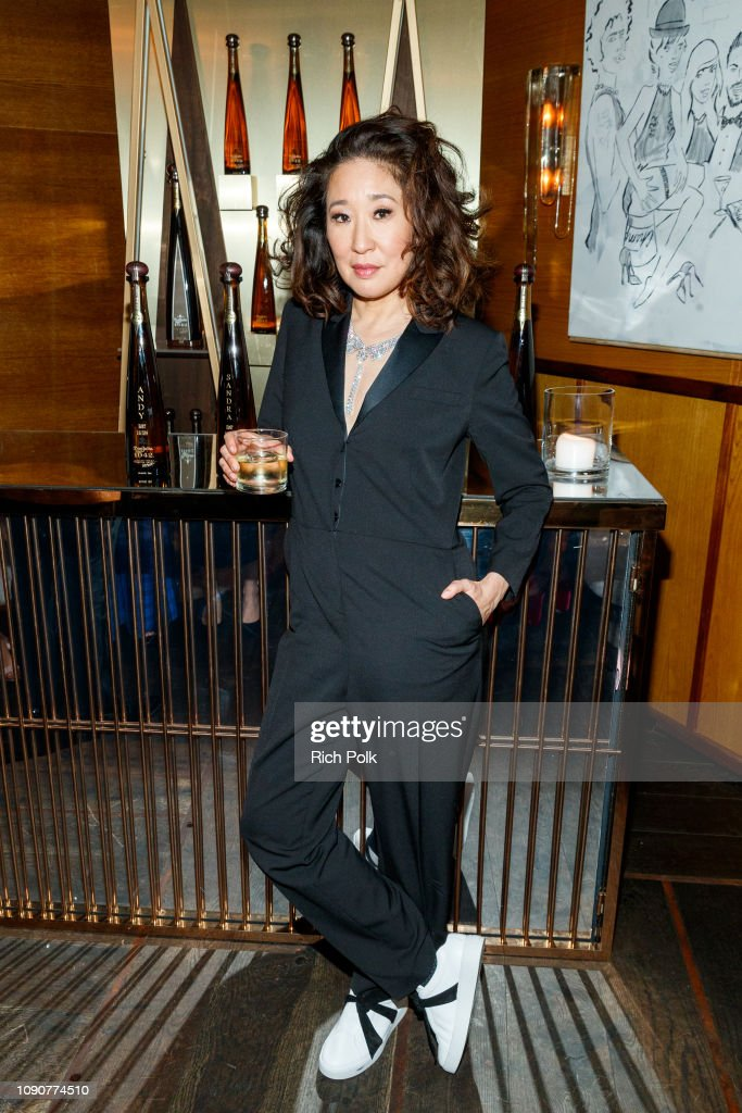 Sandra Oh & Andy Samberg Celebrate With Tequila Don Julio 1942 At Their Private Golden Globes After-Party On Sunday, January 6 : News Photo